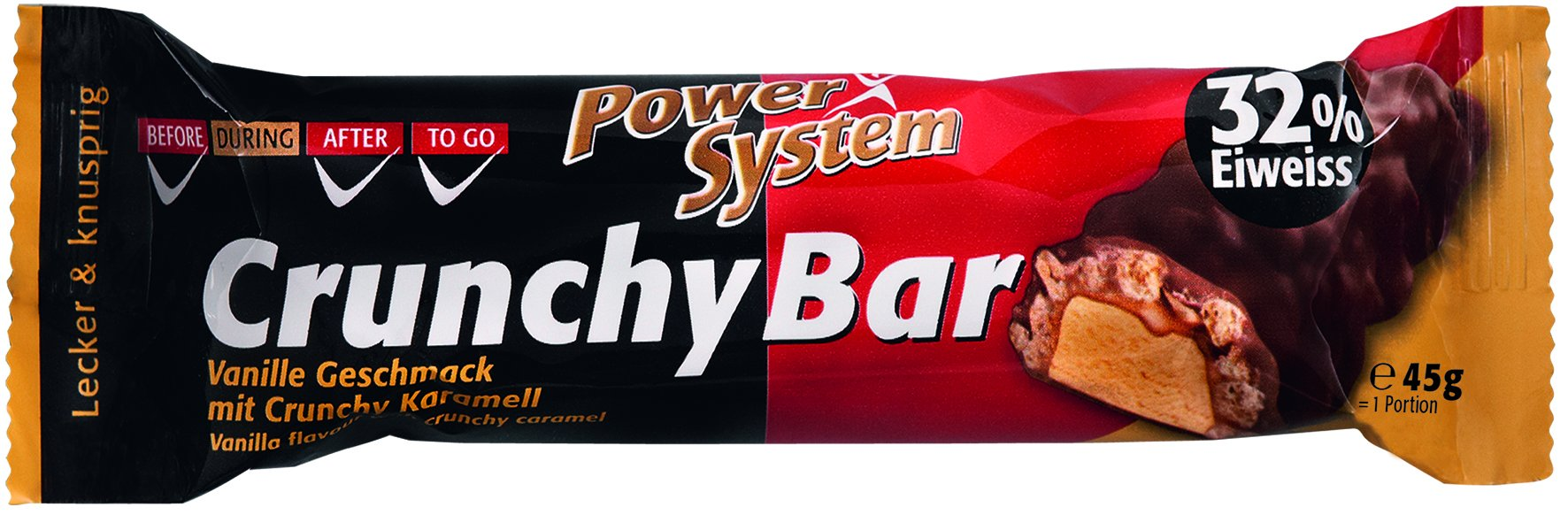 Power System Crunchy Bar 32% Vanilla with Crunchy Caramel 45g