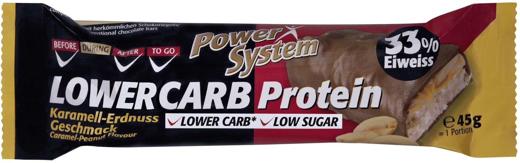 Power System LOWER CARB Protein Bar 33% Caramel Peanut 45g