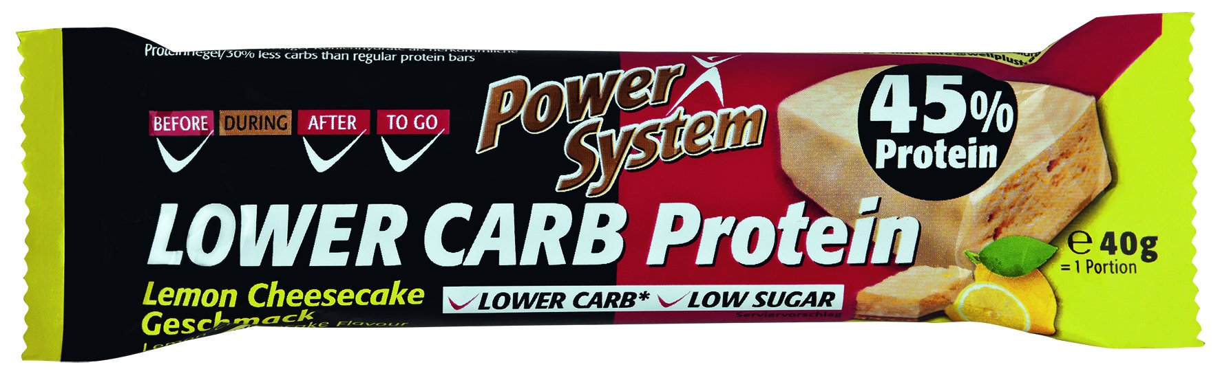 Power System LOWER CARB Lemon Cheesecake Bar with 45% Protein 40g